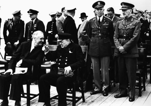 Atlantik-Charta, Roosevelt Churchill u.a - Atlantic Charter / Roosevelt and Churchill. - Charte de l'Atl., Roosevelt et Churchill