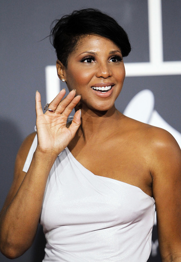 Singer Braxton arrives on the red carpet at the 52nd annual Grammy Awards in Los Angeles