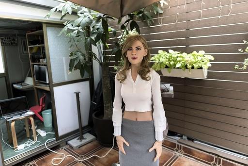 Humanoid robot inspired by actress Scarlett Johansson