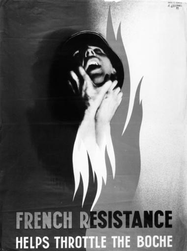 Plakat der frz. Resistance, 1944. - French Resistance Poster / WWII / 1944 -