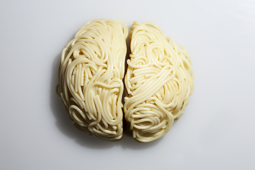 Spaghettihirnhälften Freisteller