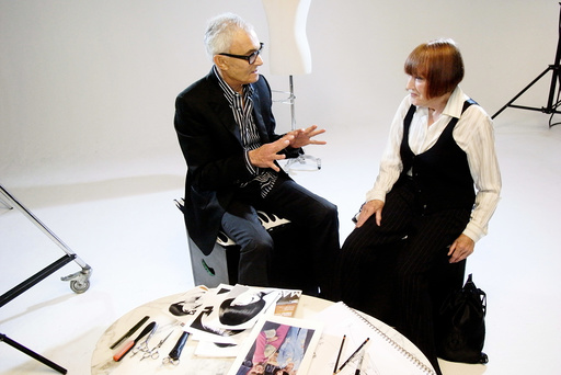 VIDAL SASSOON: THE MOVIE, from left: Vidal Sassoon, Mary Quant, 2010. ©Phase 4 Films/Courtesy Everet