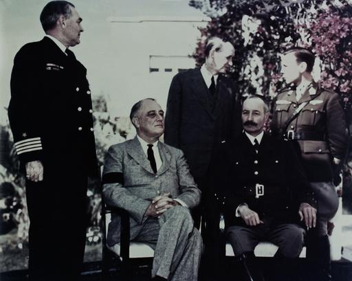 Konferenz v.Casablanca/Roosevelt,Giraud - Roosevelt & Giraud / Casablanca / 1943 -