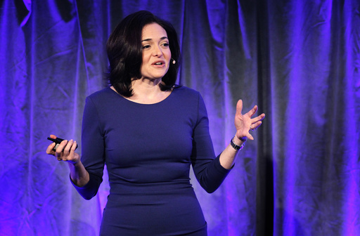 Facebook COO Sandberg delivers a keynote address at Facebook's