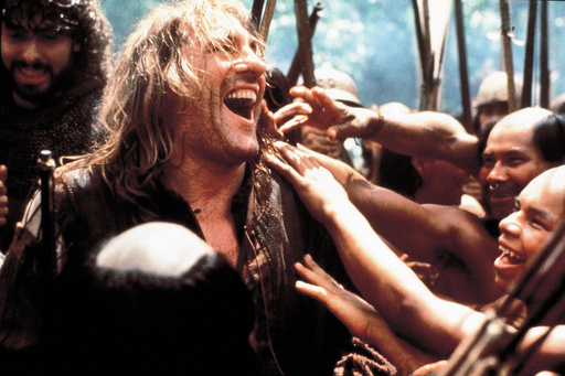 GERARD DEPARDIEU in 1492: CONQUEST OF PARADISE (1992), directed by RIDLEY SCOTT.