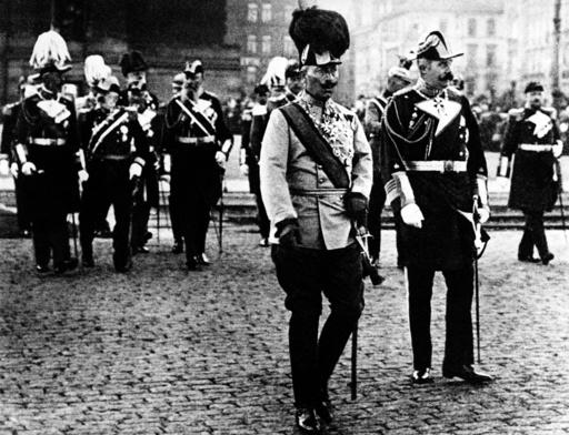 Visit of Austro-Hungarian heir to the throne archduke Franz Ferdinand in Berlin 1909