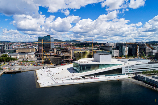 Dronebilder Oslo.