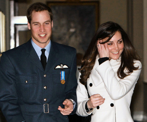 File photo of Prince William and Kate Middleton at RAF Cranwell