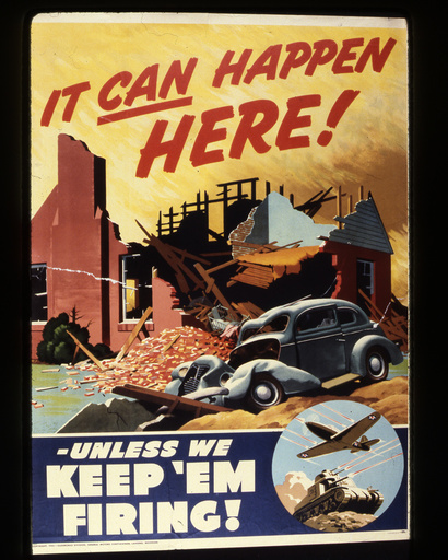 2.Wk., USA, Rüstungsindustrie / Plakat - WWII, USA, arms industry / poster -
