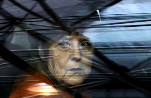 Germany's Chancellor Merkel arrives at an EU-Turkey summit in Brussels