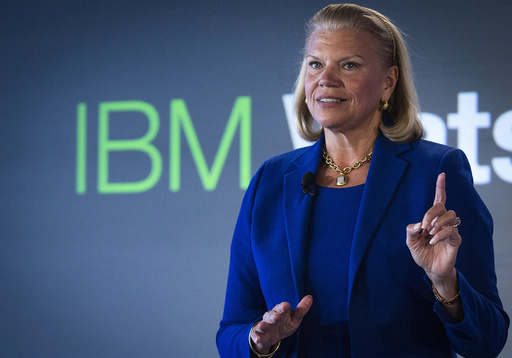 IBM Chairwoman and CEO Rometty speaks at an IBM Watson event in lower Manhattan, New York