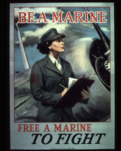 2.WK,USA, Frauen im Marinekorps/ Plakat - WWII, USA, women in the US Navy / poster -