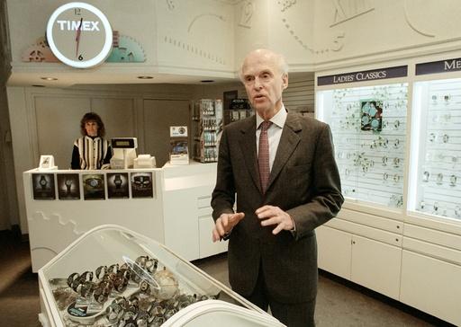 Fred Olsen på Timex hovedkontor ved New York.