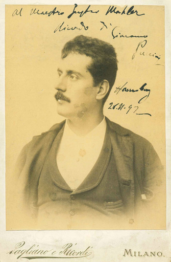 Portrait of the Composer Giacomo Puccini (1858-1924), c. 1890.