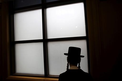 An ultra-Orthodox Jewish man attends the funeral of Rabbi Yochanan Sofer, the spiritual leader of the Erlau dynasty in Jerusalem