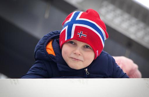 Members of the Norwegian Royal Family attend the Holmenkollen Ski Championship.