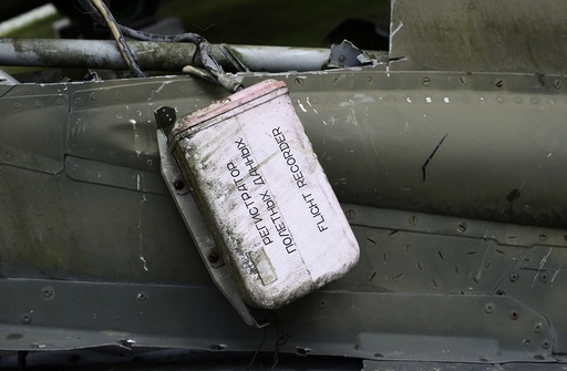 A flight data recorder from crashed Mig-23 figter jet is seen in private aviation museum in the village of Zruc