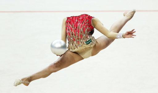 Russia's Mamun performs in the individual final programme at the 31st European Rhythmic Gymnastics Championships in Minsk