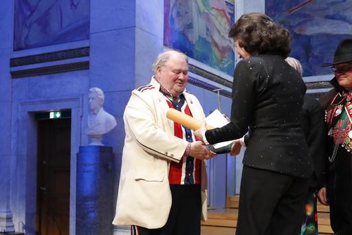 Knut Buen er en av prisvinnerne av Anders Jahres Kulturpris som ble delt ut i Universitets Aula torsdag kveld.