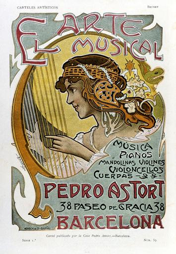Poster design for Pedro Astort music shop, Barcelona