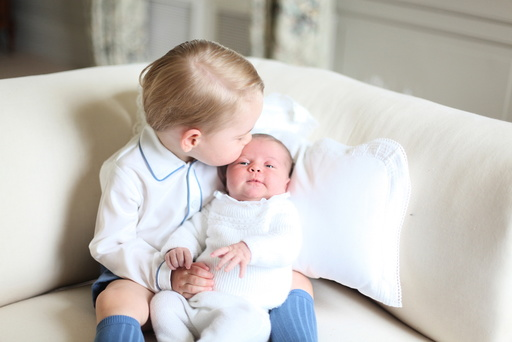 Prince George and Princess Charlotte are seen in this undated handout photo