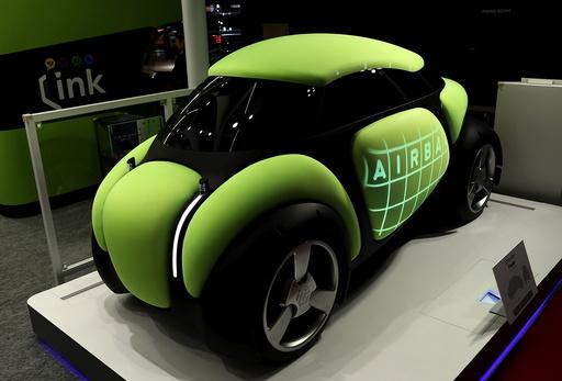 Toyoda Gosei Co Ltd's personal mobility concept airbag car