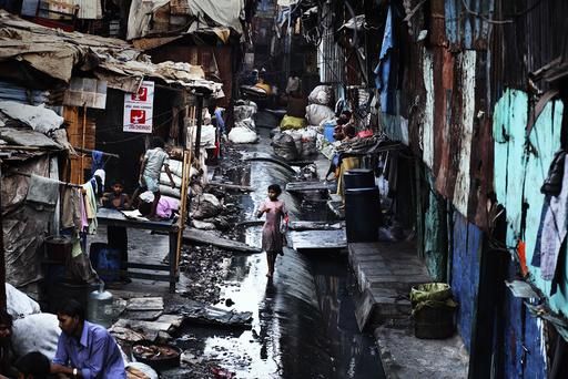 INDIA. Dharavi slum.