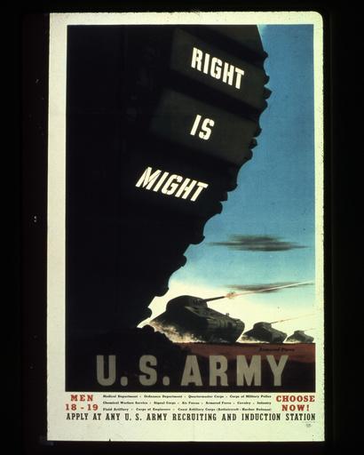 2.Wk., USA, Rekrutenwerbung / Plakat - WWII, USA, army recruitment advertising -