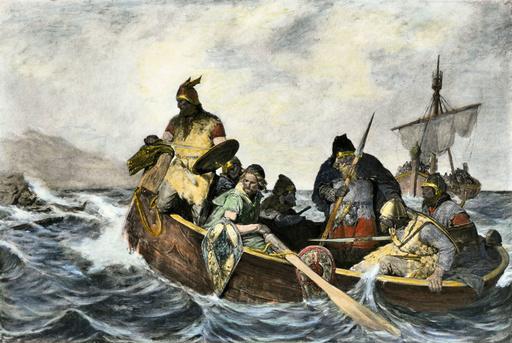 Leif Erikssen off the coast of Vineland