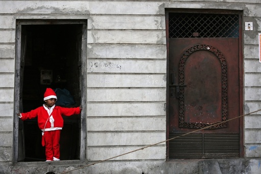 Christmas celebrations in a slum area in Amritsar