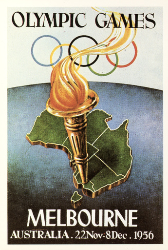 Sommerolympiade 1956, Melbourne/Plakat - Summer Olympics 1956, Melbourne / Poster -