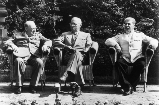 Potsd. Konferenz/Churchill,Truman,Stalin - Potsdam Conference. -