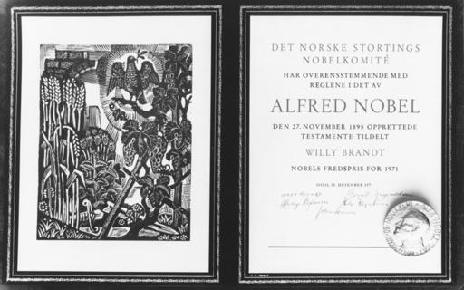 Willy Brandt, Friedensnobelpreis - Willy Brandt / Nobel Peace Prize - Willy Brandt, prix Nobel de la Paix