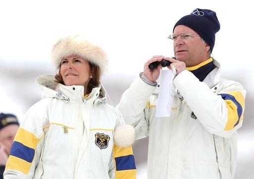 Vinter-OS 2002, Herrarnas fem mil, Kungen och Silvia