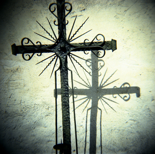 Cross in graveyard