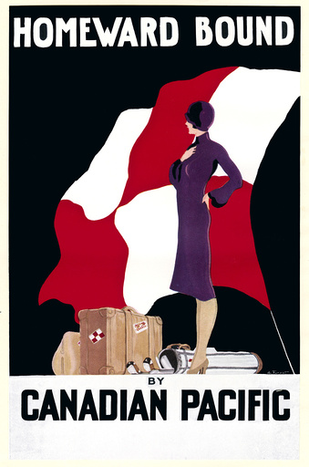 Poster design for Canadian Pacific travel