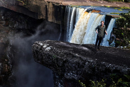 Britain's Prince Harry visits Kaieteur Falls during an official visit in Guyana