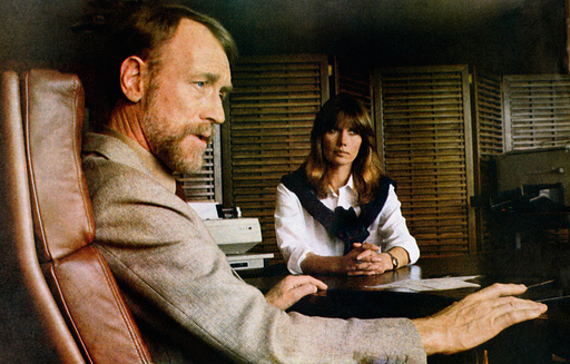 JUGANDO CON LA MUERTE, (aka HIT MAN, aka TARGET EAGLE), from left: Max von Sydow, Maud Adams, 1982,