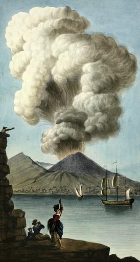 Vesuvius erupting, 1779, artwork