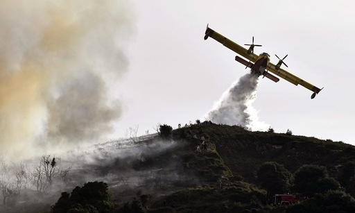 Forest fire in northern Spain