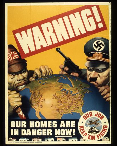 2.Wk.,USA, Warning..../ Plakat 1942 - WWII, USA, 'Warning...'/ poster 1942 - 2e G.M.,USA, Warning..../ Affiche 1942