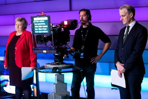 Solberg og Støre på Debatten på NRK