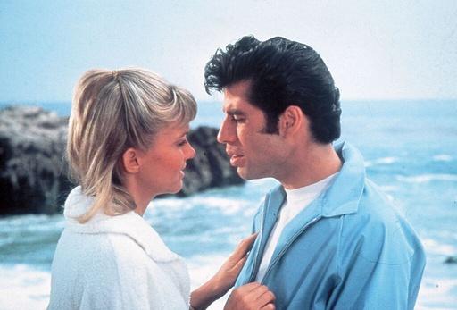 GREASE (1978), directed by RANDAL KLEISER. JOHN TRAVOLTA; OLIVIA NEWTON-JOHN.