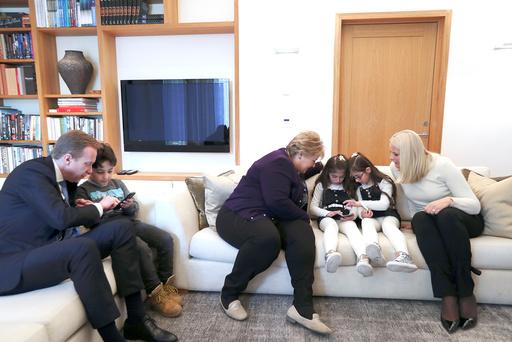 Hjemme hos statsministeren.