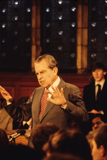 Richard Nixon speaking, Oxford