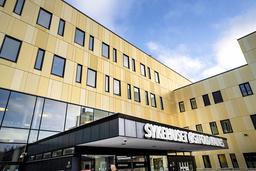 Ved Sykehuset Østfold var det lørdag 25 koronapasienter. Ti flere enn dagen før. Foto: Gorm Kallestad / NTB
