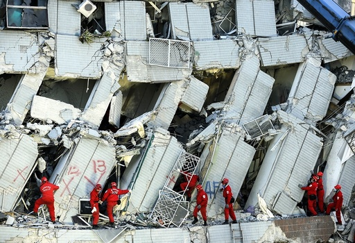 Strong earthquake topples buildings in Taiwan, killing eight