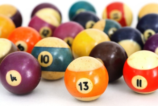 Celluloid billiard balls