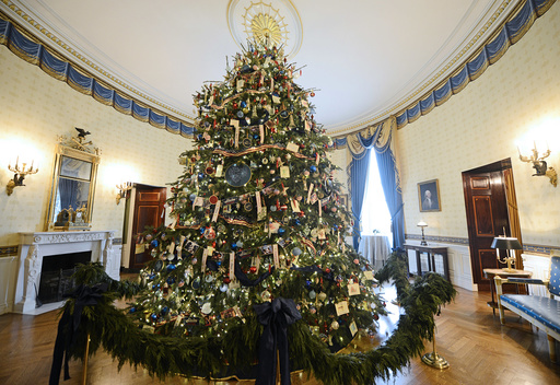 US-WASHINGTON-WHITE HOUSE-CHRISTMAS DECORATIONS