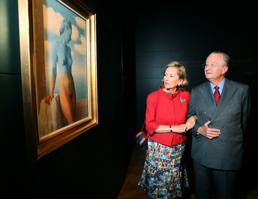BELGIUM-ROYALS-MAGRITTE-MUSEUM-OPENING